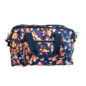 Vera Bradley Blue Floral Overnight Bag